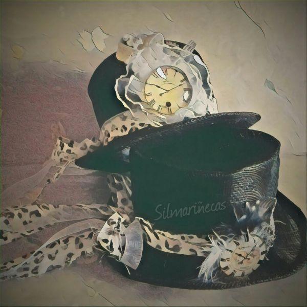 cómo hacer un sombrero #steampunk para muñecas #blythe