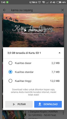 Cara Download Lagu di Android dengan Youtube GO