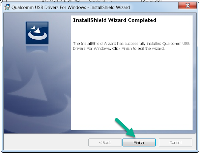 Finish Install QualComm Android Driver Windows PC