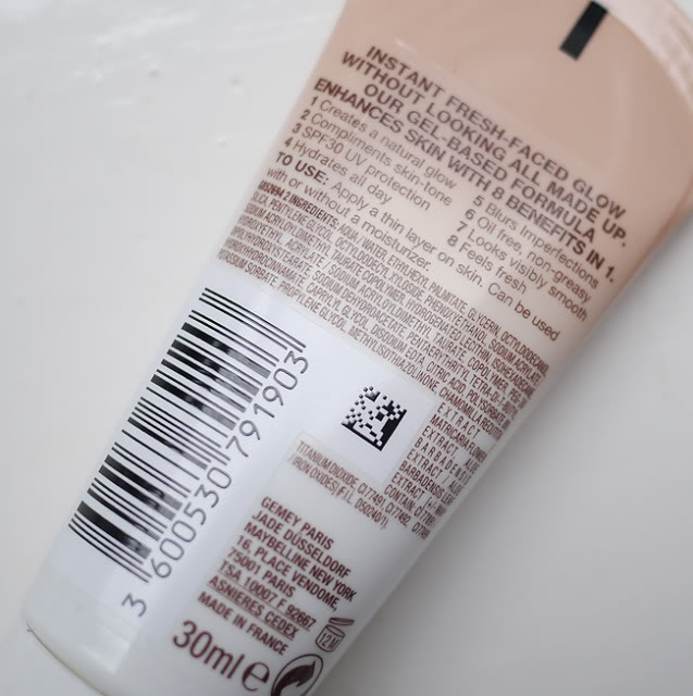 Maybelline Dream Fresh BB Cream Ingredients