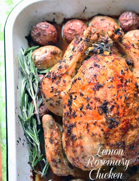 Roasted Lemon Chicken with Potatoes and Rosemary recipe