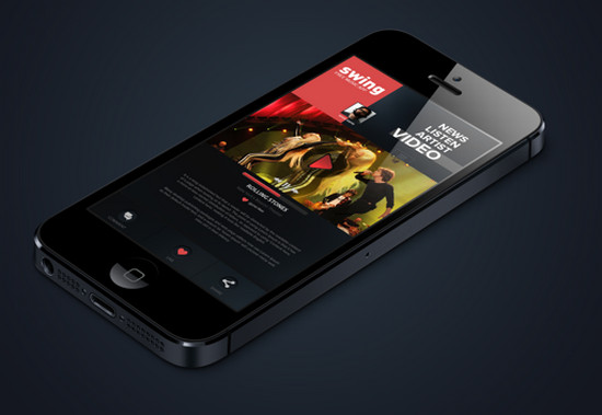Swing Music iphone App concept