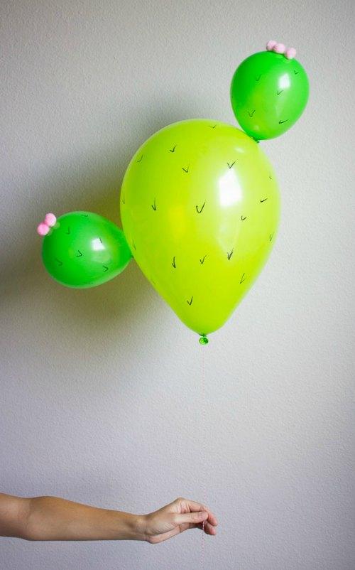 cactus balloons, diy cactus balloons, green balloons