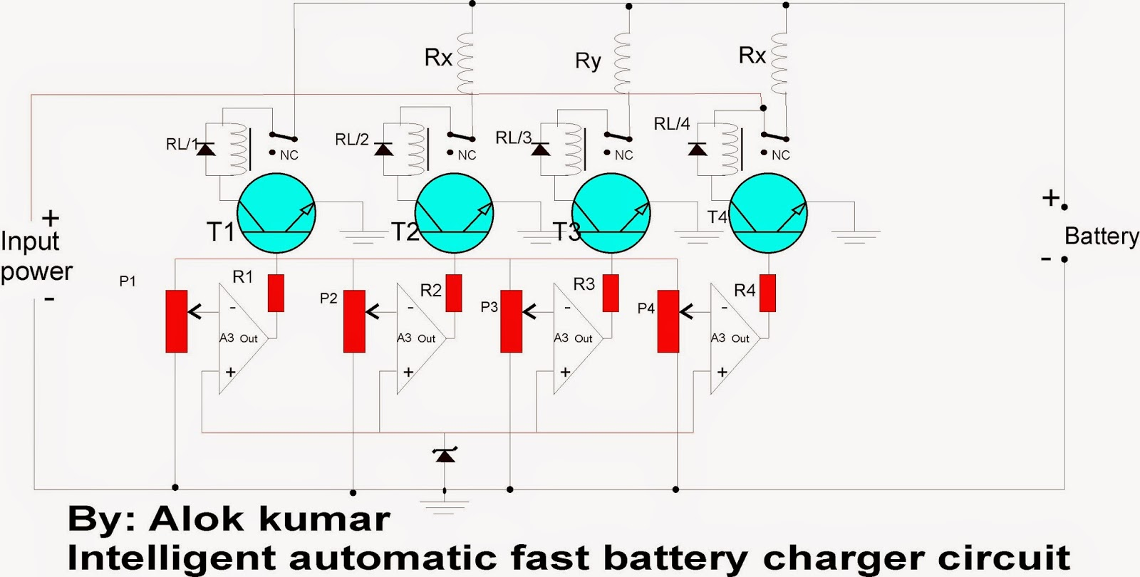 Circuit Diagram Of Phone Charger 2004 Ford Taurus Engine Solar Battery Schematic Get Free Image