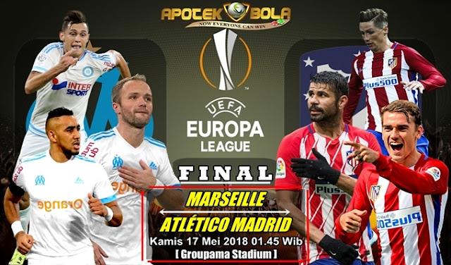 Prediksi Marseille vs Atletico Madrid 17 Mei 2018