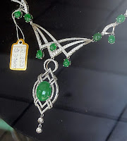 Jadeite jade necklace for sale with gold and diamonds