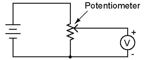 Simple Electricity: Potentiometer as a voltage divider