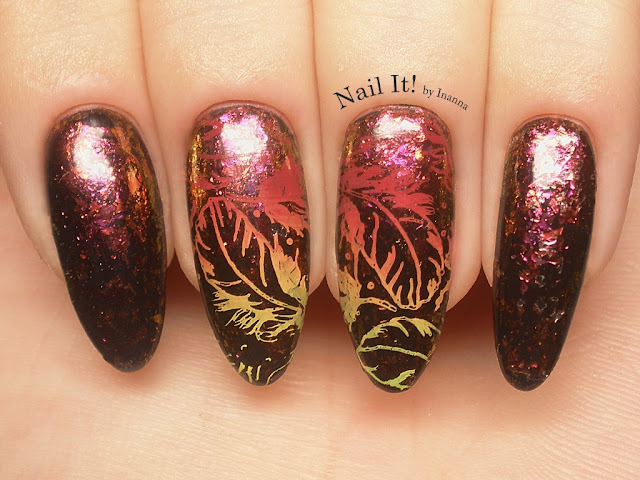 "Rising Phoenix - B. Loves Plates ""08. Feather Fever"" plate review, swatches nad nail art"