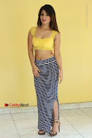 Cute Telugu Actress Shunaya Solanki High Definition Spicy Pos in Yellow Top and Skirt  0137.JPG