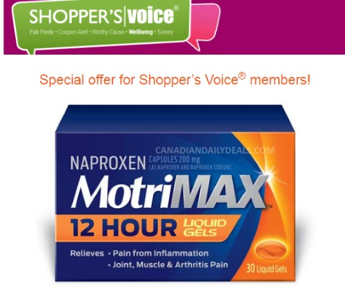 MotriMax Free Sample from Shoppers Voice