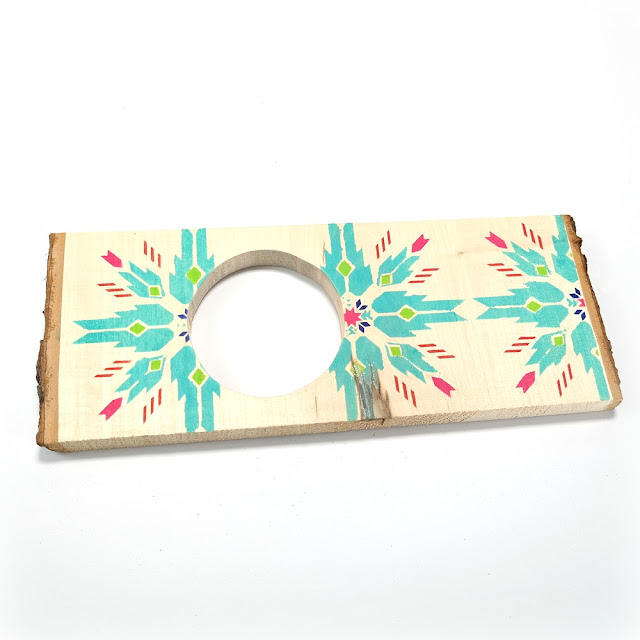 How to Create a Layered Stenciled Design on a Wood Slice with ColorBox Art Screens Trio