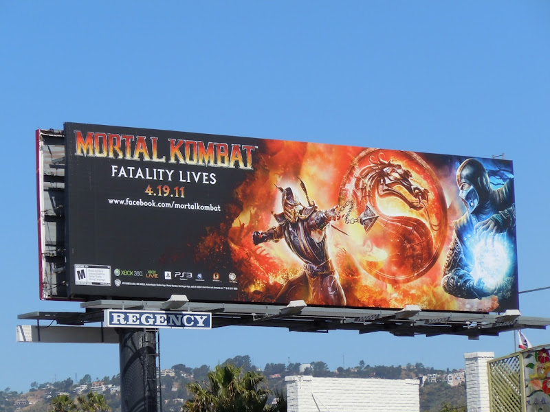 Mortal Kombat Fatality Lives billboard
