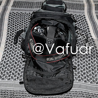 5.11 tactical Concealed Carry COVRT Zone Assault Backpack 6 with Canon DSLR