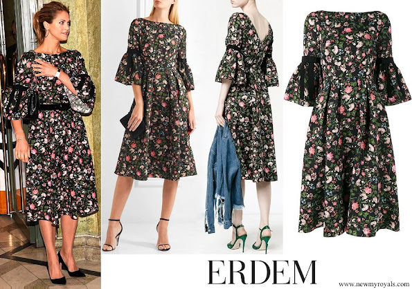 Princess Madeleine wore ERDEM Aleena floral matelassé dress