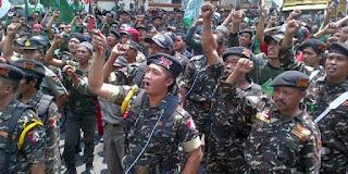 Nah Loh .. Kader Ansor se-Indonesia telah bersiap ke Jakarta Bela KH Ma'ruf Amin - Commando