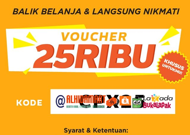 3 Kode Kupon Voucher Shopee Oktober 2017