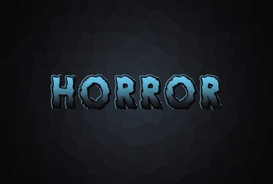Efek teks horror di Photoshop menggunakan warna berbeda