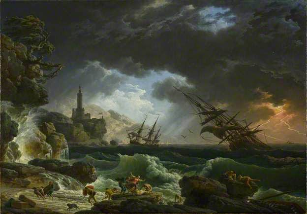 A Shipwreck in Stormy Seas by Claude-Joseph Vernet, 1773