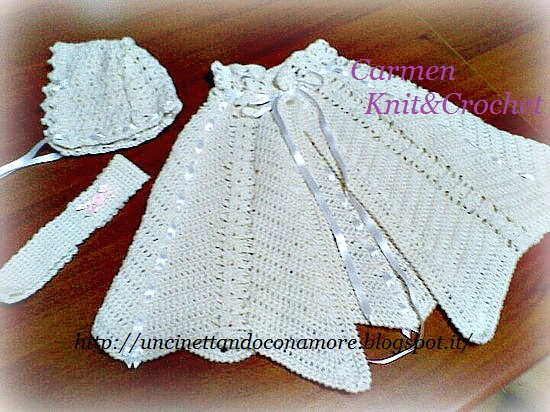 My Lovely Crochet Coordinato Battesimale