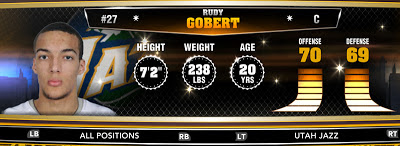 NBA 2K13 Jazz Rudy Gobert - Round 1 27th Overall