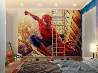habitación infantil spiderman