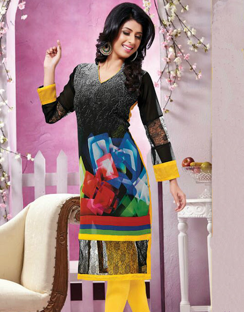 Latest Georgette Kurtis 2015
