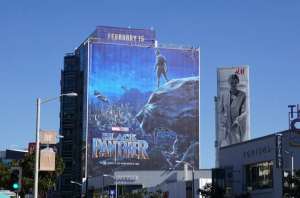 Black Panther movie billboard