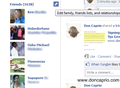 Facebook friends list order new profile pictures