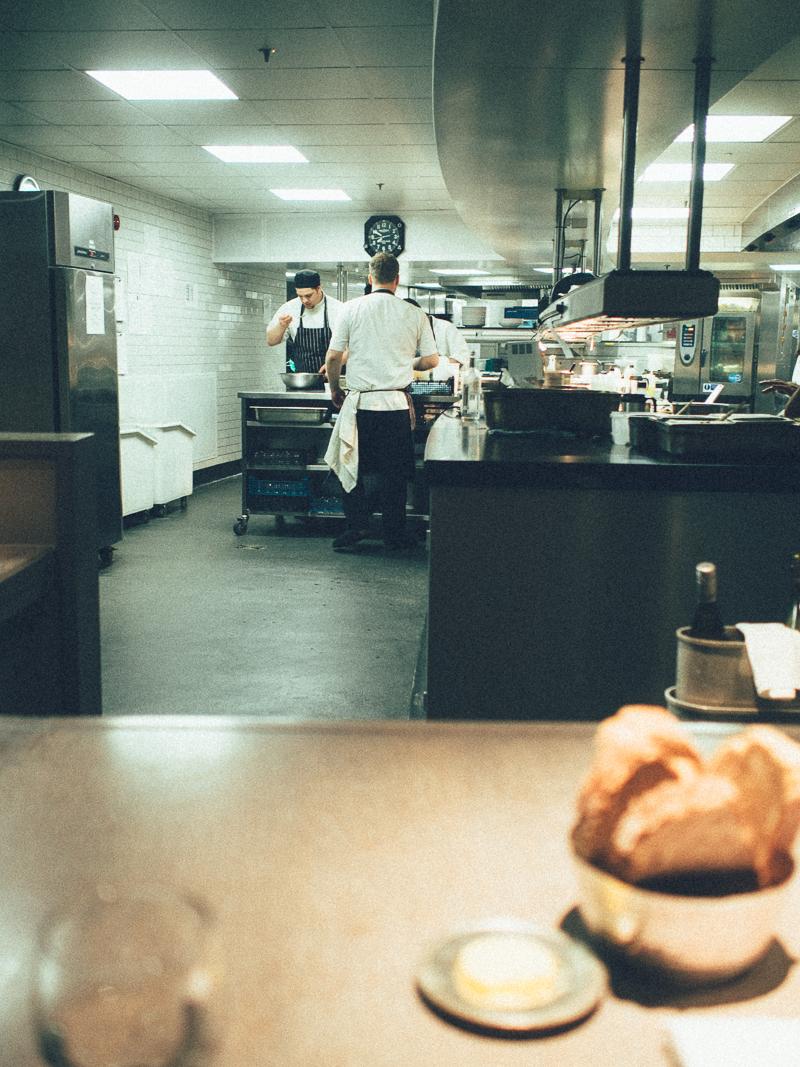 Kitchen Table at The Gilbert Scott
