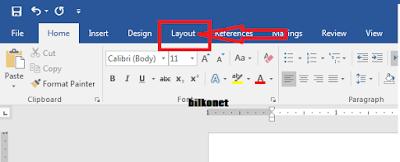 Cara Mengatur Margin Pada Microsot Word - Langkah 1