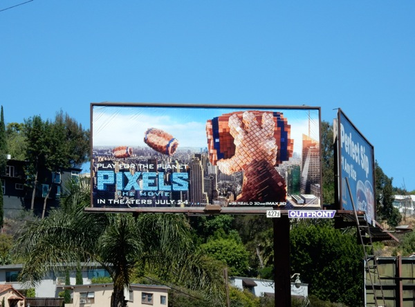 Donkey Kong Pixels Movie billboard