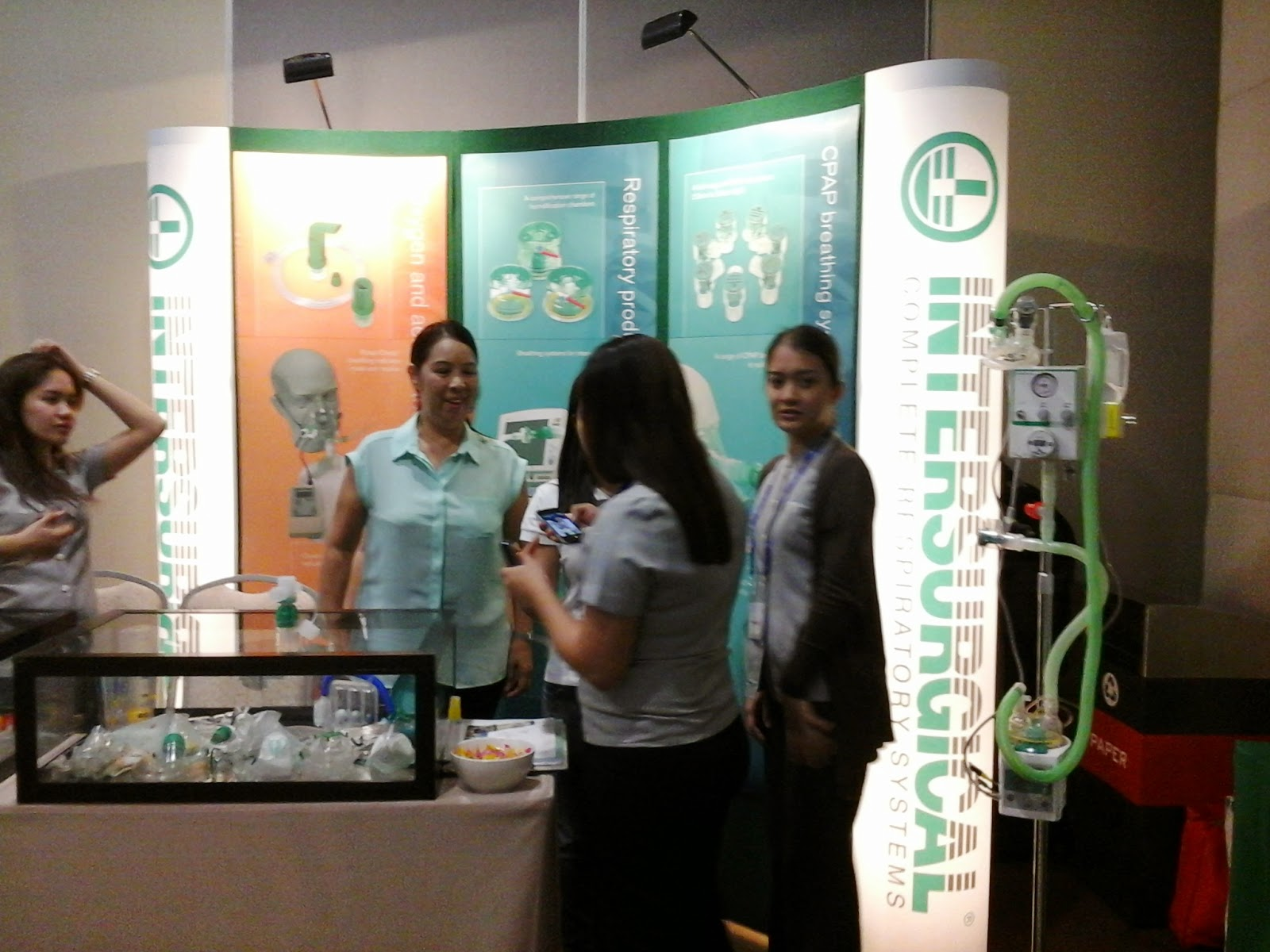 Intersurgical Complete Respiratory Systems Exhibit Booth