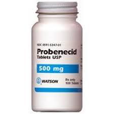 ยาขับกรดยูริกในเลือด probenecid