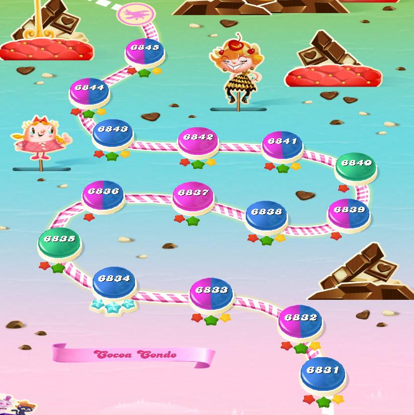 Candy Crush Saga level 6831-6845