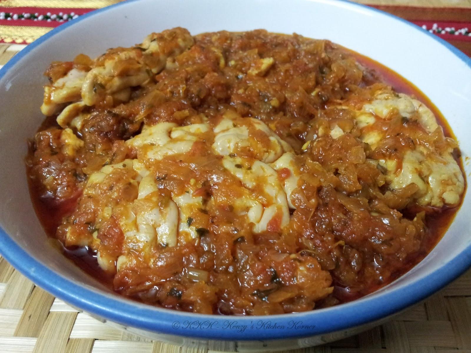 Kharu Bheju Brains In Onions Masala