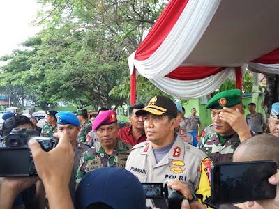 Jelang Pemilu 2019, Kapolda Pimpin Apel Pasukan Operasi Mantap Brata Krakatau 2018