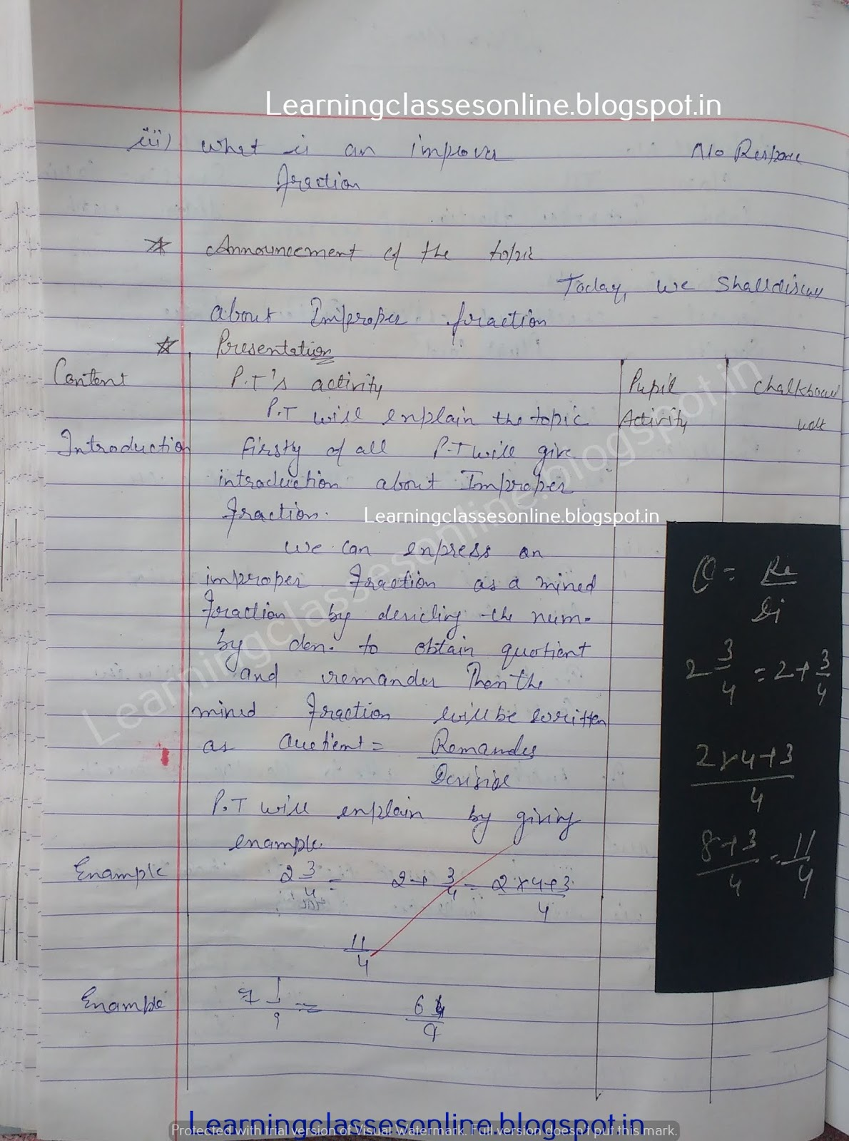 Lesson Plan For Maths Class 6 Cbse,
