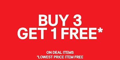 H&M Malaysia Buy 3 Get 1 Free Deal Item