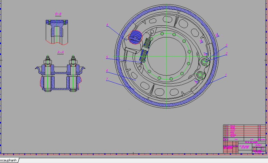 cơ cấu phanh xe zil 131