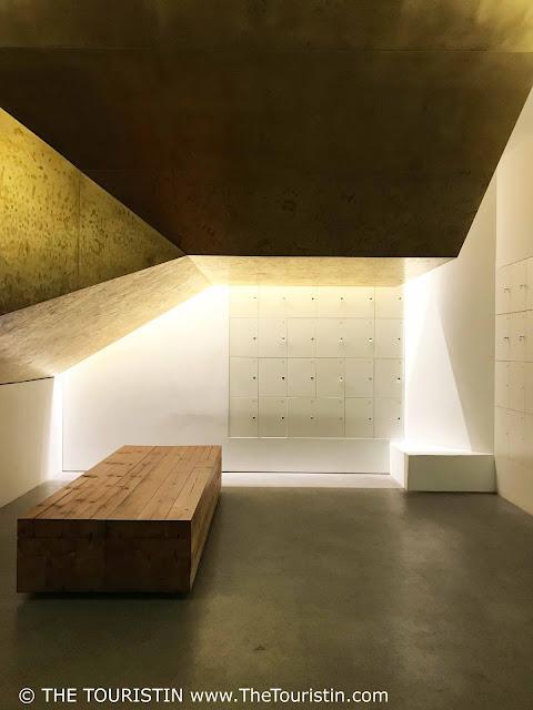 Latvian National Museum of Art golden cloak room, locker room. The Touristin