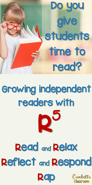 Independent reading time is vital to helping students grow as readers.  Find out how to get kids to read and reflect upon their reading with R5.