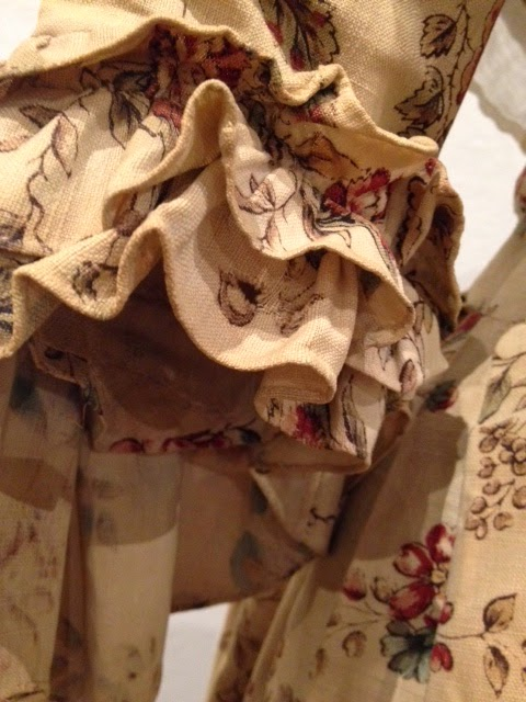 Silkdamask A Perfect New England Pairing Printed Gown And Quilted Petticoat 1760s