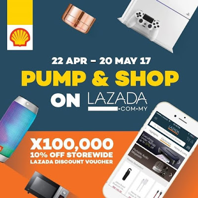 Shell Malaysia Lazada Discount Voucher Pump & Shop Promo Code