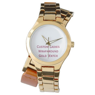 DIY Custom Womens Wraparound Gold Watch