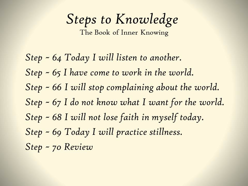 Steps To Knowledge The Book Of Inner Knowing Spiritual Practices