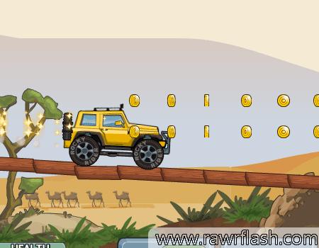 Corrida de carro, Rocky Rider 2: Com 3 diferentes tipos de carros explore uma ilha exótica com cavernas, rios de ácido, vulcões, etc.. Cada parte avançada os obstáculos mudam e aumentam.