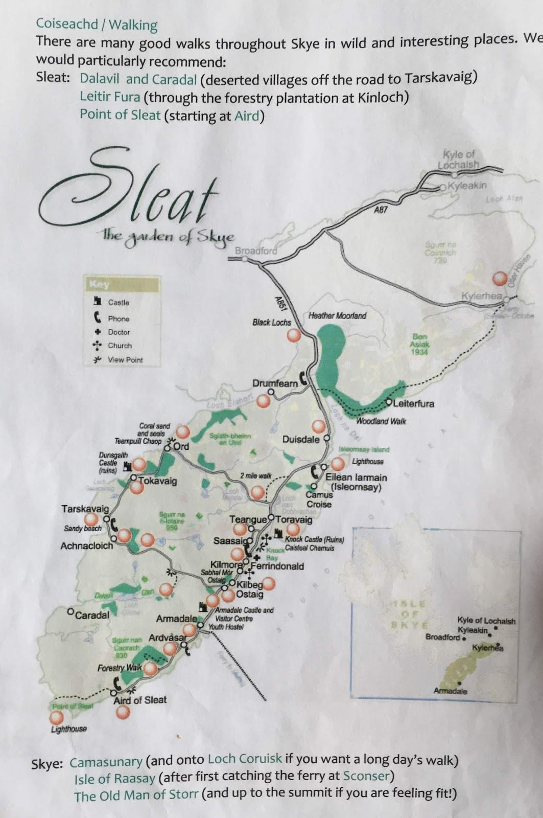 map of sleat region of skye