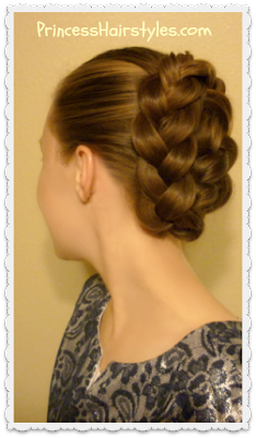 French braid tuck hairstyle video tutorial