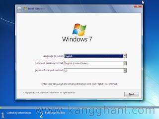 Cara Install Windows 7 Lengkap bagi Pemula