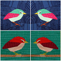 Foundation Paper Piece New Zealand Rock Wren Quilt Pattern